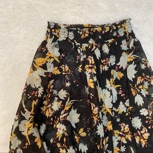 Free People Floral Sheer Maxi Skirt